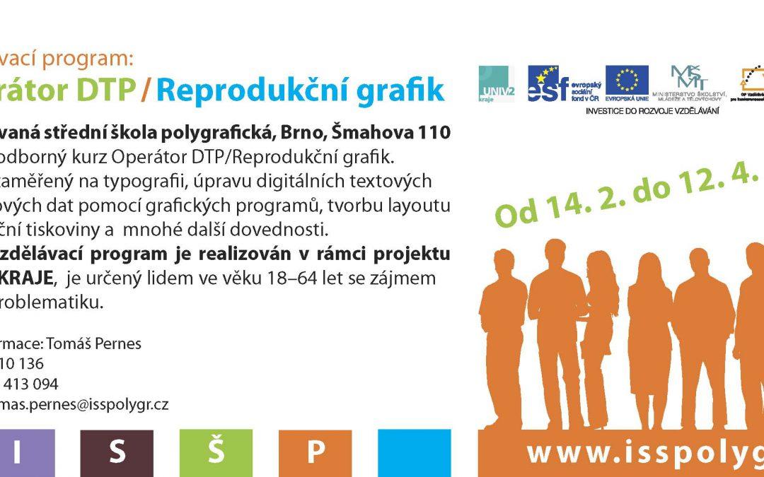 Pokračování kurzu Operátor DTP/Reprodukční grafik