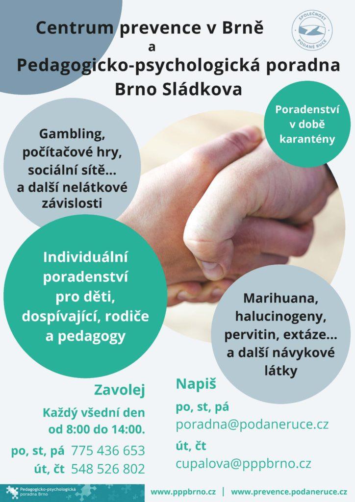 Poradenství v době karantény www.pppbrno.cz www.prevence.podaneruce.cz
